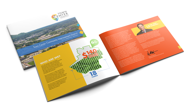 2015 Annual Report Spread - Town Center CID