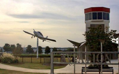 Town Center Community Alliance Completes Plane Installation